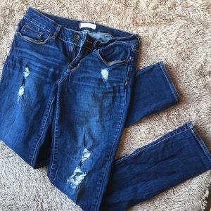 Pacsun bullhead distressed skinny jeans